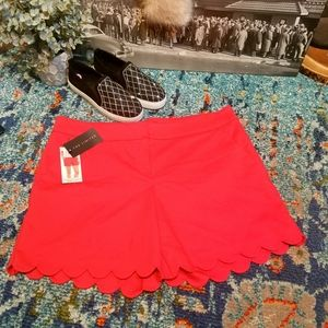 ⚘NWT THE LIMITED Scarlet Scalloped Tailored Shorts